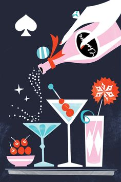 Illustration - Drinks - Kate Spade