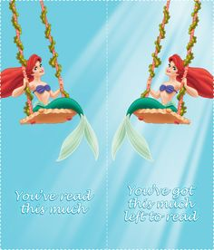 The Little Mermaid Bookmarks 06 Little Mermaid Parties, Ariel The Little Mermaid, Little Mermaid Characters, Cool Bookmarks, Party, Prints, Teaching Ideas, Printables, Birthday