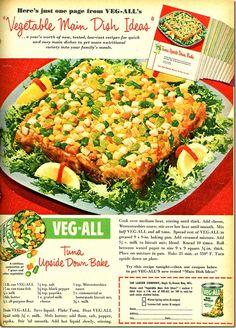 Tuna Upside Down Bake   Newlywed dinners that made my husband gag---VEG-ALL