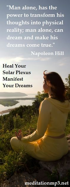 °The Solar Plexus Chakra Meditation. Heal Your Solar Plexus, Manifest Your Dreams. This Simple Meditation Helps You To Create The Life You Dream Of.