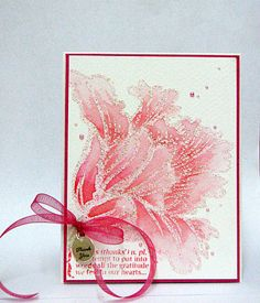 love big stamping flowers but partially on the page...