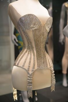 A Day Out at the V&A: Undressed, A Brief History of Underwear. Pictured: A Swarovski-crystal embellished Mr Pearl corset designed for Dita Von Teese. (c) Victoria and Albert Museum, London