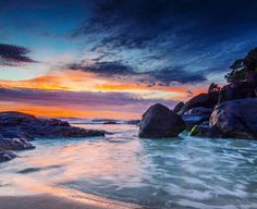 Snapper Rocks at sunrise #nikon #d7000 #sunrise #australia #mynikonlife #igers #snapperrocks #beach #queensland #coolangatta #sky #clouds #explore #igersgoldcoast @igersgoldcoast @australia @nikonaustralia by j_ulzzzz