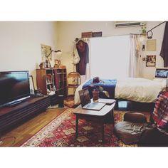 ドライフラワー/一人暮らし/DIY棚/雑貨/1人暮らし/ダイソー…などのインテリア実例 - 2016-06-18 17:06:13…