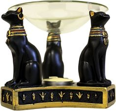 Bastet is the Egyptian Goddess of cats, protection, joy, dance, music, family and love. Be inspired by this beautiful oil burner. Our Egyptian Figurines are inspired by Ancient Egypt and its God and G