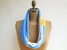 San Diego Chargers T Shirt Scarf / Blue White Yellow Gray by ohzie