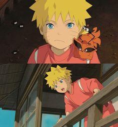 Naruto x Spirited Away. Naruto And Sasuke, Naruto Uzumaki, Anime Naruto, Kakashi E Sakura, Naruto Cute, Naruto Funny, Gaara, Anime Manga, Naruto Comic