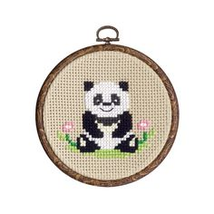 Panda Bear Cross Stitch Kit