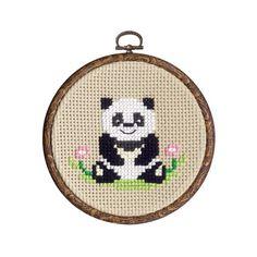 Panda Bear Cross Stitch Kit