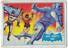 Topps Batman card, art by Norman Saunders: Jack Frost's Jinkx