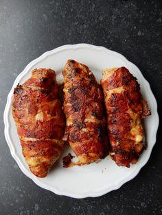 Gevulde kipfilet met spek en kaas – RECEPT
