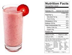 Strawberry Yogurt Smoothie (NCAA Compliant) made with BiPro Whey Protein Isolate.