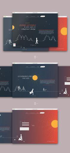 Webdesign, horizontal scroll, page événementielle pour promouvoir la Journée Nationale de lutte contre le réchauffement climatique Desktop Screenshot, Global Warming, Wrestling