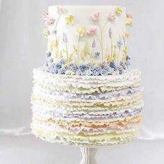 23 Stunning Spring Wedding Cakes to Inspire: #10. BEAUTIFUL RUFFLE CAKE; #springwedding; #weddingcake
