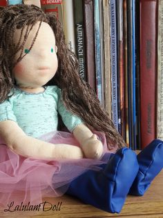 "Waldorf doll 18"" handmade ragdoll ballerina for sale by lalulamdoll on Etsy"