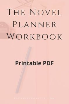 The Novel Planner Workbook Writing Kylie