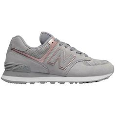 watch c8d15 f0257 New Balance US 6.5 EU 37 Womens 574 Classic Gray Suede Athletic Sneaker  Shoes  NewBalance