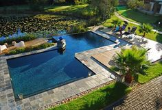 Lily Pond Country Lodge - The rooms and public areas all open out onto the pool and pond