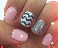 pink and gray nails | Makeup
