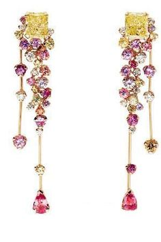 Chanel pastel series of jewelry, diamonds & color gemstones