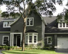 amherst gray exterior - Google Search Exterior Gray Paint, Main Street, Cabin, Schnauzers, Benjamin Moore, Google Search, Paint Ideas, House Styles, Painting