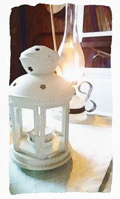 In my garden cottage. #garden #cottage #lamp