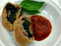 Spinach and Ham Stromboli:  http://discoveringfoods.blogspot.com/2015/01/a-new-year-new-start.html?