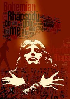 Print Queen music poster Birthday Gift art Bohemian Rhapsody poster - Queen…