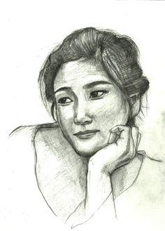 The sketch for girl | Girl Sketch #8
