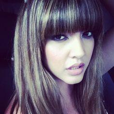 Model Denise Bidot in an instagram shot after shooting with IGIGI.