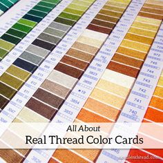 All About Real Thread Color Cards – NeedlenThread.com - what you'll find on a real thread color card and the many ways you can use it for your embroidery projects