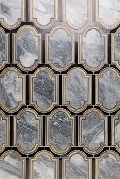 Inara Kentucky Haze Brass And Marble Tile | TileBar.com