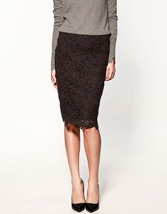 J.Crew - Collection leather pencil skirt (simple and edgy ...