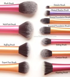 Real Techniques make-up brush collection.
