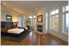 I like the open feeling, recessed lighting, the windows, and the curved walls.