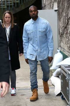 Kanye West attend the Celine show as part of the Paris Fashion Week Womenswear Fall/Winter 2014-2015 on March 2, 2014 in Paris, France.