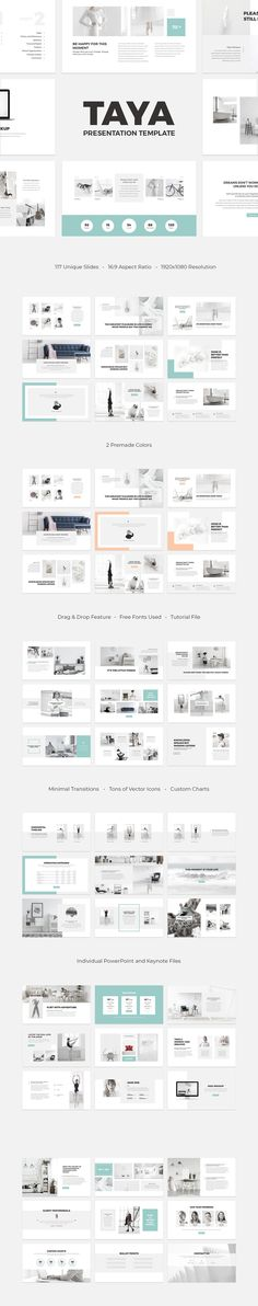 Taya is a simple and impressive multipurpose presentation template for both PowerPoint and Keynote. It has a minimal style supported by soft colors. Taya aims to provide the most useful slides in easiest ways to edit.  #free powerpoint template #free keynote template #free presentation template #free # keynote #powerpoint # presentation # template #fashion #lifestyle #wedding
