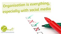 When it comes to #socialmedia, #organisation is everything! Do you agree?