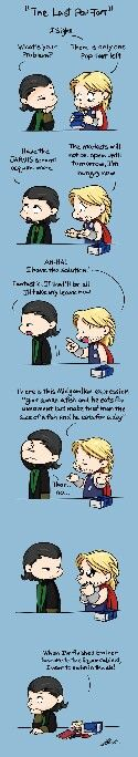 The last Pop Tart with Loki and Thor