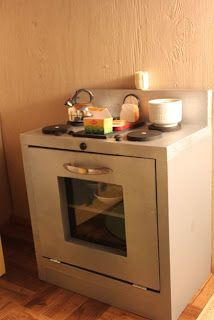Plans to make a Stove perfect for 18 inch dolls....this is so cool!