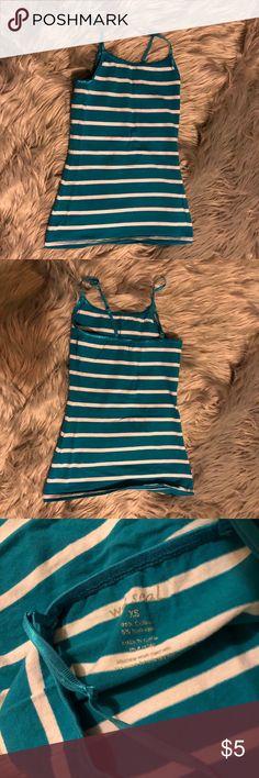 Super Sale 🔥 blue and white stripe tank💙 SIMPLE blue and white stripe tank💙 by Wet Seal👄🍎💙 Wet Seal Tops Tank Tops