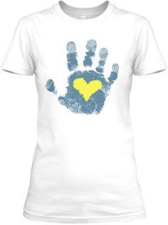 Down syndrome awareness hand print | Teespring