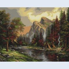 Picnic in the Mountains - counted cross-stitch kit  - Luca-S