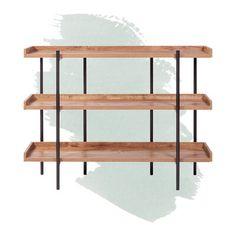 Foundstone Parker Etagere Bookcase Color: Classic Oak Oak Shelving Unit, Modern Shelving, Metal Shelves, Etagere Bookcase, Ladder Bookcase, Bookcases, Office Furniture, Office Decor, Vintage Bookcase