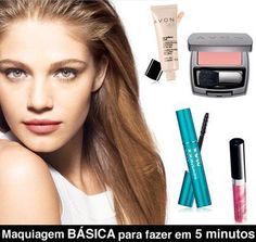 Maquiagem AVON - Básica em 5 minutos - Arrase!!