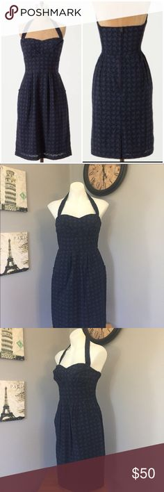 Anthro Eyelet Branch Halter Dress Girls Savoy Girls from savoy blue halter dress. Features pockets, and removable halter strap. In great condition. No issues to report. The fabric is textured with a leafy spring print on it. Measurements as follows laying flat Length: 37.5 inches Bust: 15.5 inches Anthropologie Dresses