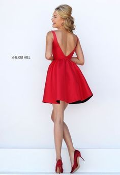 Cocktail short dress red