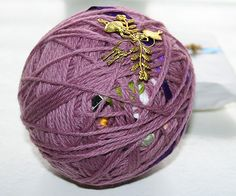 Magic Yarn Balls - filled with little toys and nick-nacs. I should make one for my son and let him unwind it a little bit each day....hmmmm.