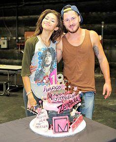 Zendaya & Val at Zendaya's birthday celebration on the K.C. Undercover set (August 29th)