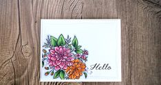 I got some major happy mail while we were away on vacation and the gorgeous Dahlia stamp from WPlus9  was one of the things I received. I co...
